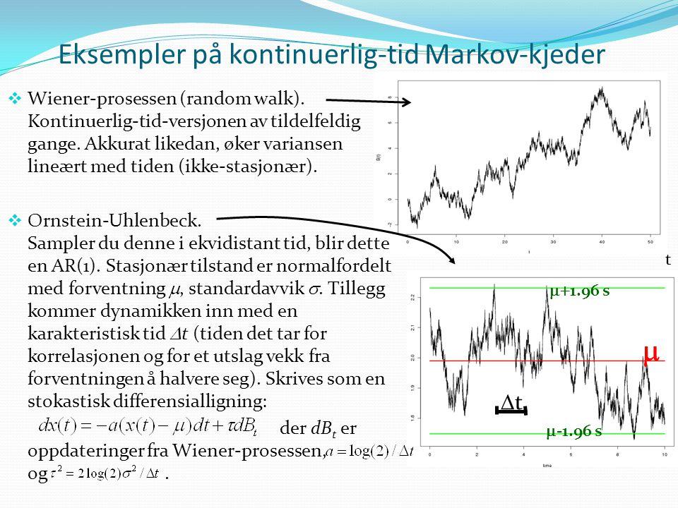Eksempler på kontinuerlig-tid Markov-kjeder