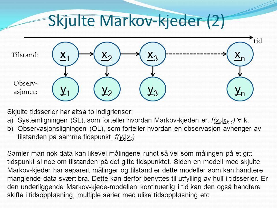 Skjulte Markov-kjeder (2)
