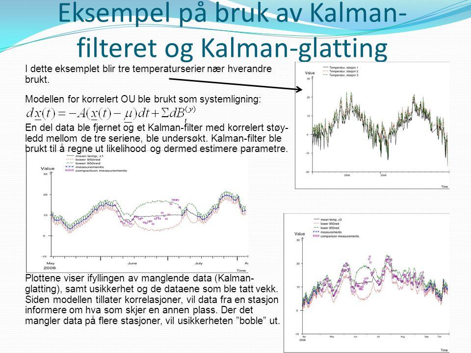 Eksempel på bruk av Kalman-filteret og Kalman-glatting