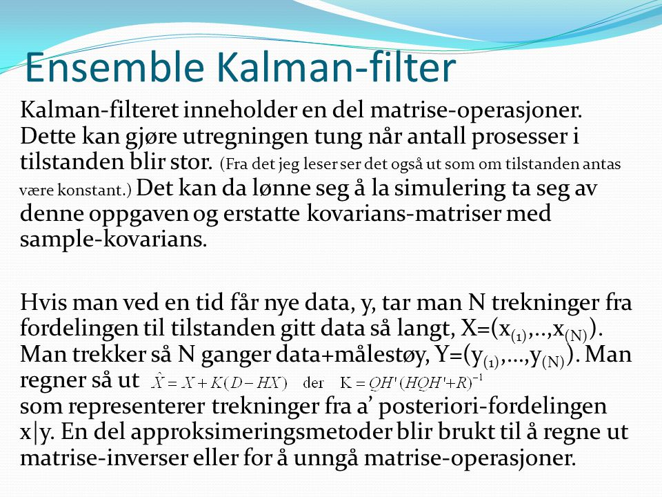 Ensemble Kalman-filter