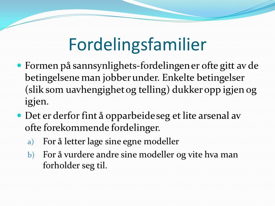 Fordelingsfamilier