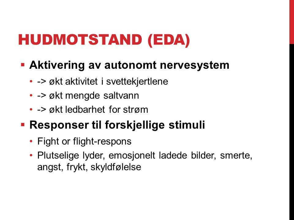 Hudmotstand (EDA) Aktivering av autonomt nervesystem