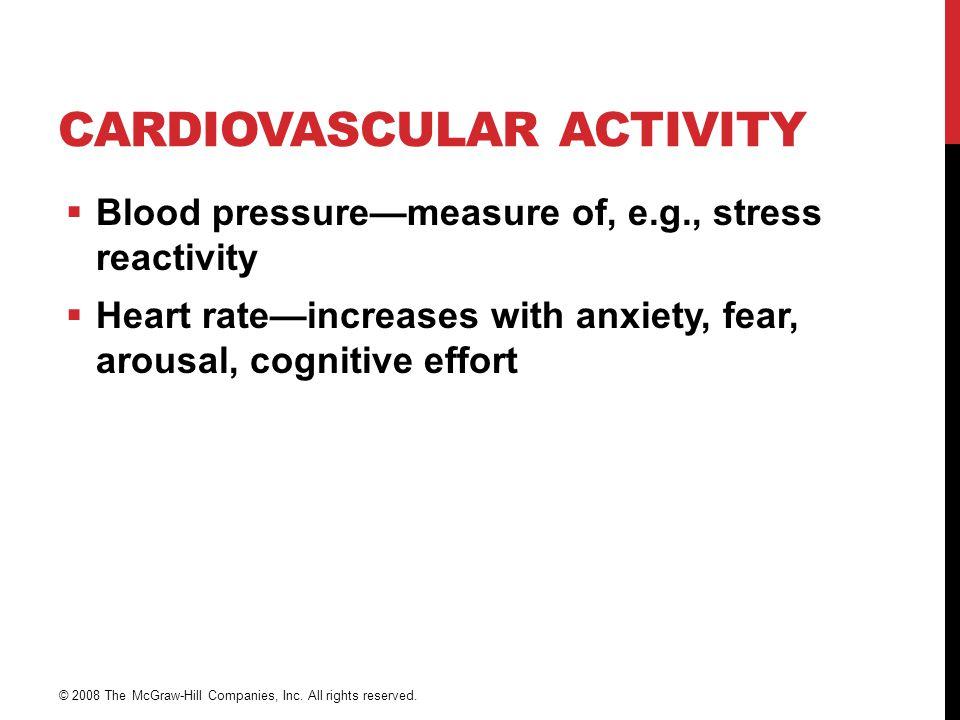 Cardiovascular activity
