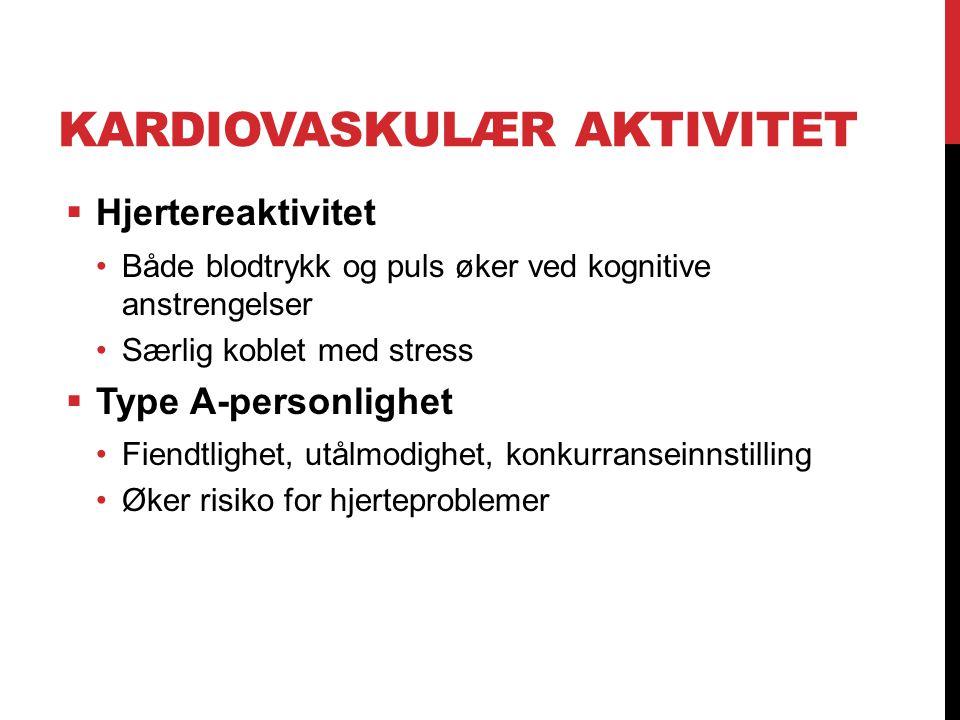 Kardiovaskulær aktivitet