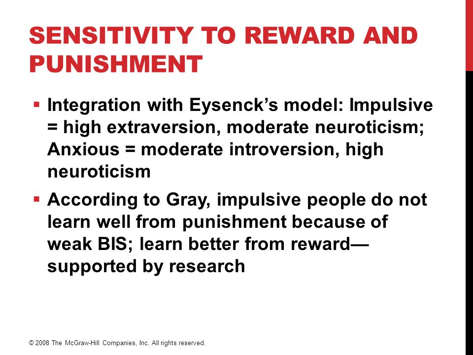 Sensitivity to Reward and Punishment