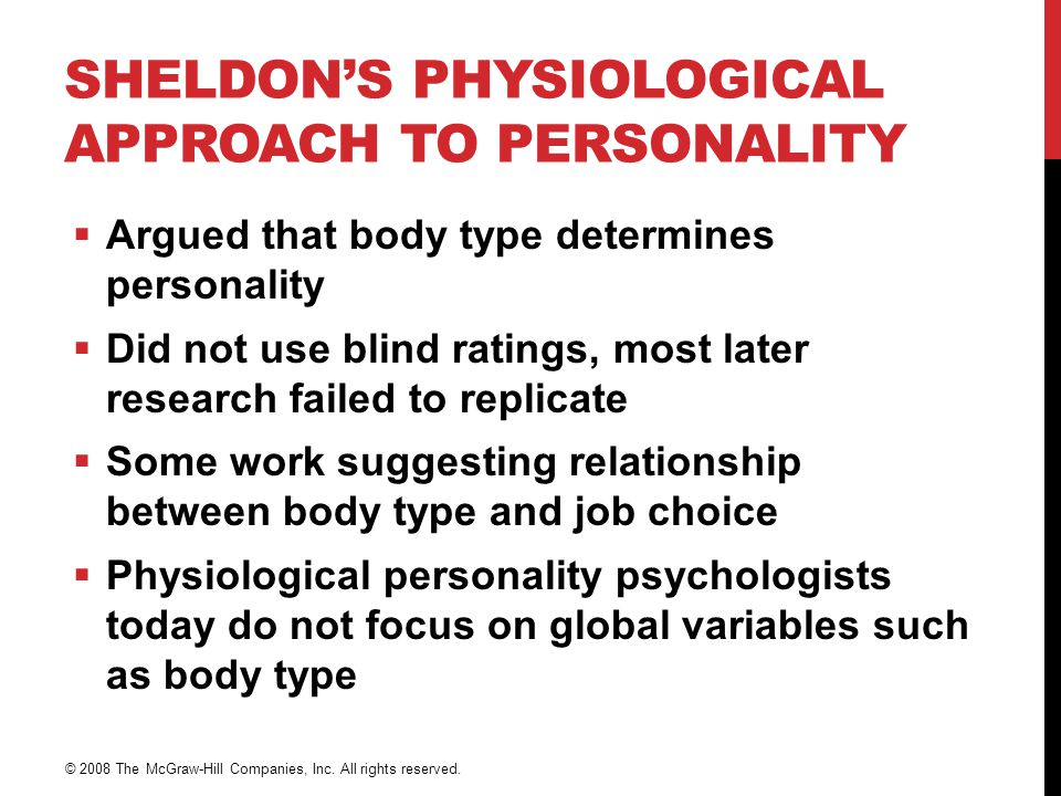 Sheldon's Physiological Approach to Personality