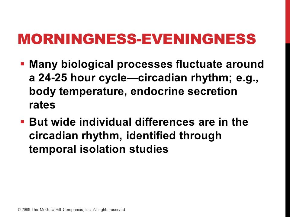 Morningness-Eveningness