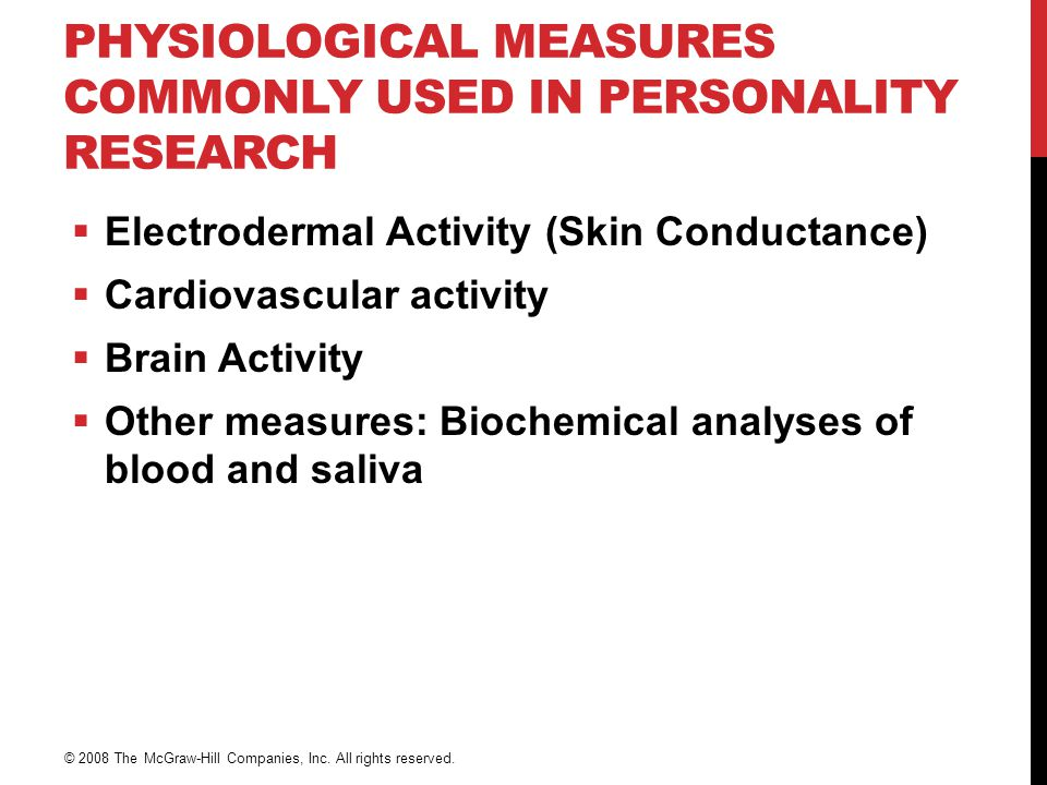 Physiological Measures Commonly Used in Personality Research