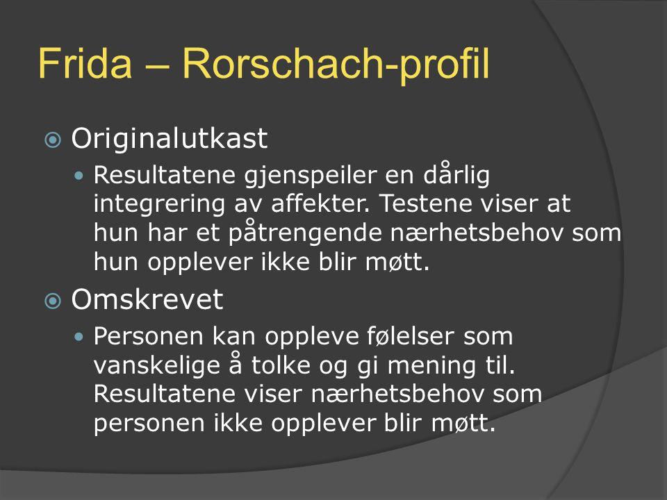 Frida – Rorschach-profil