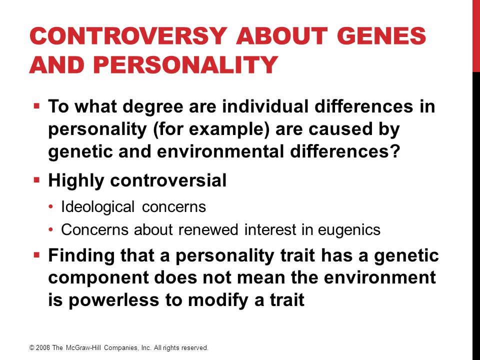 Controversy About Genes and Personality