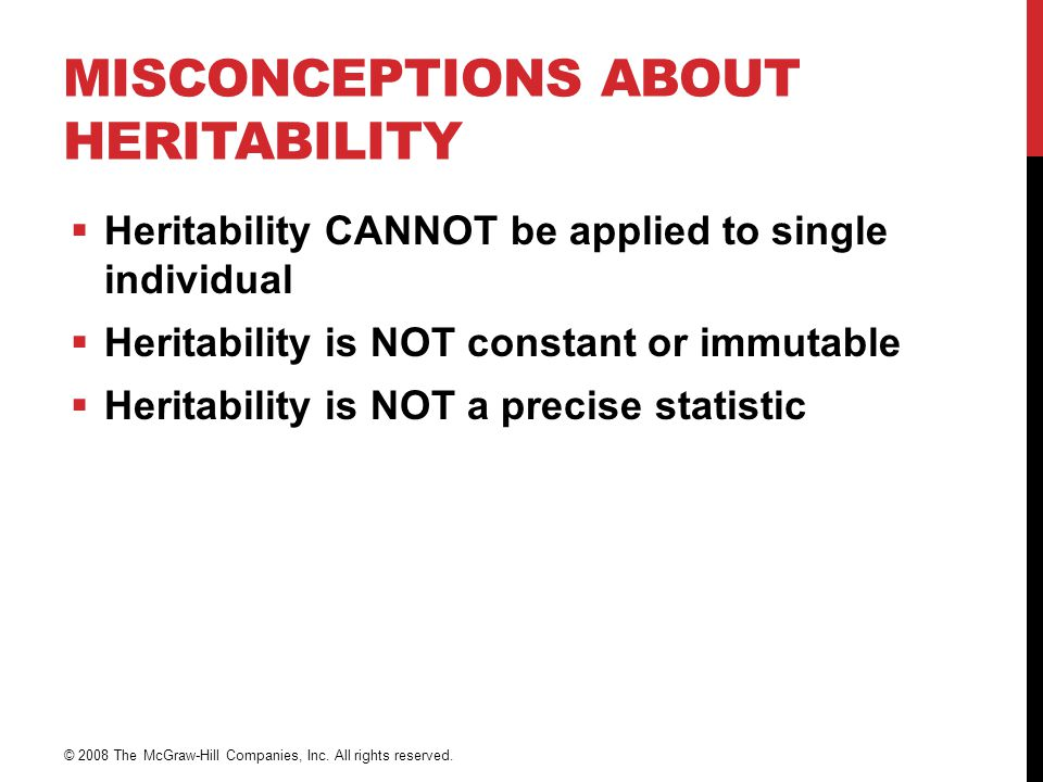 Misconceptions About Heritability