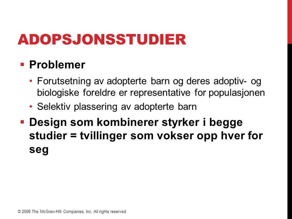 Adopsjonsstudier Problemer