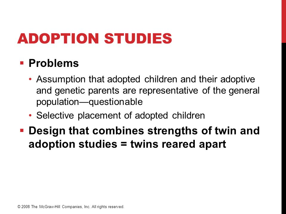 Adoption Studies Problems