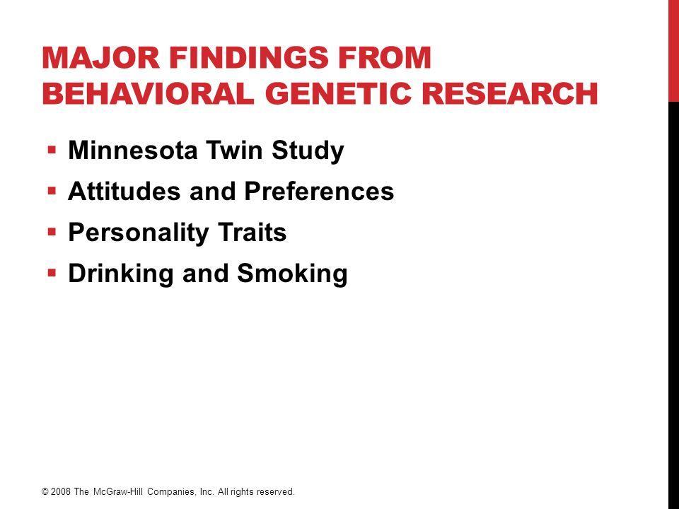 Major Findings from Behavioral Genetic Research