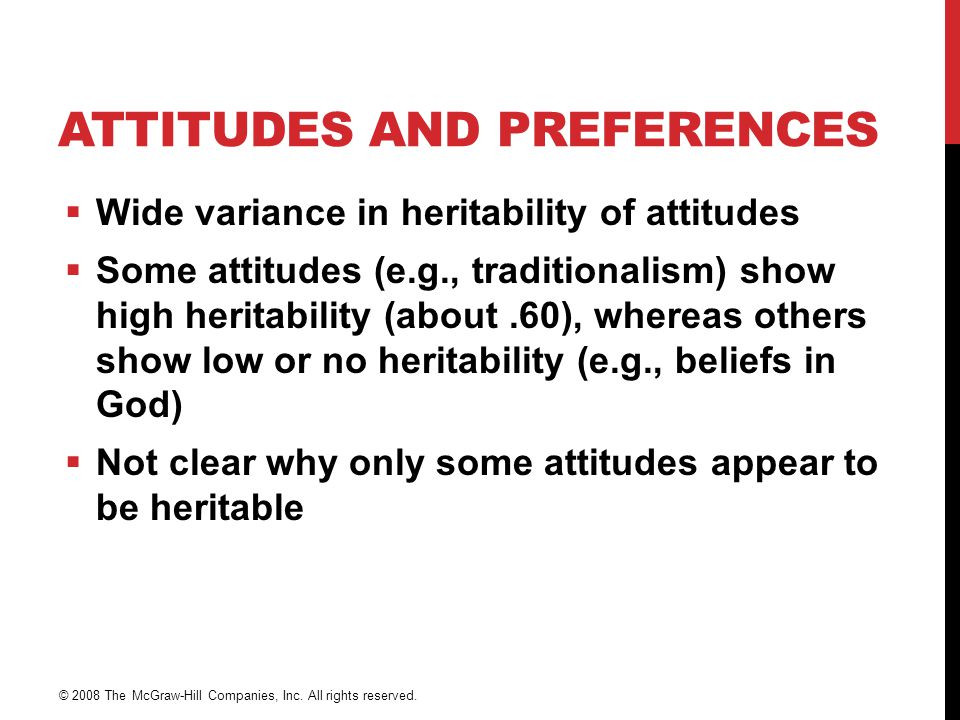 Attitudes and Preferences