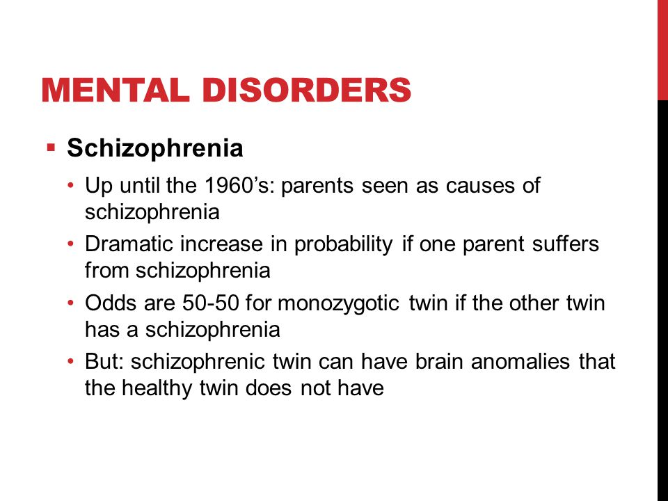 Mental disorders Schizophrenia