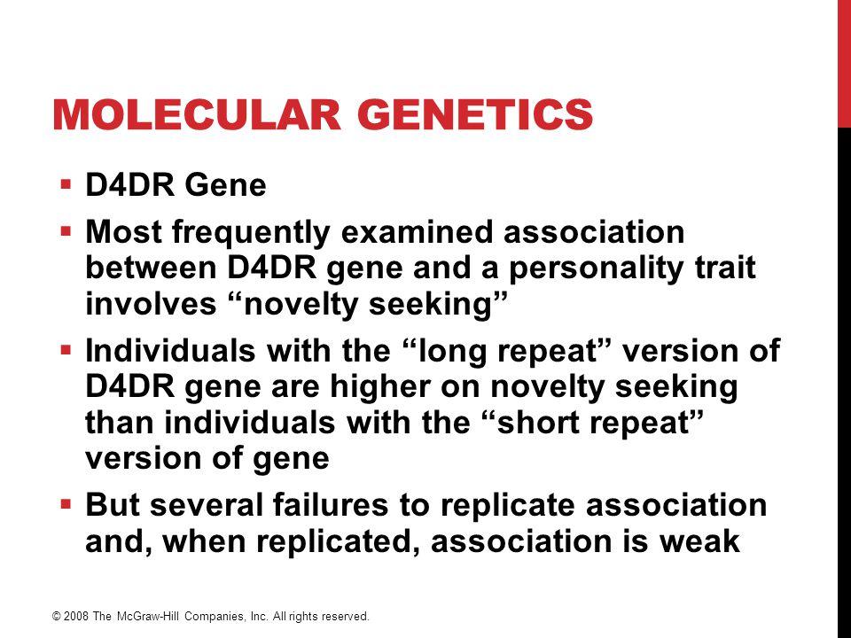 Molecular Genetics D4DR Gene