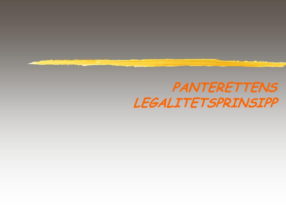 PANTERETTENS LEGALITETSPRINSIPP