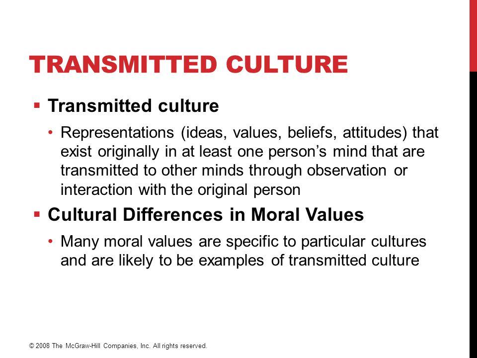 Transmitted Culture Transmitted culture