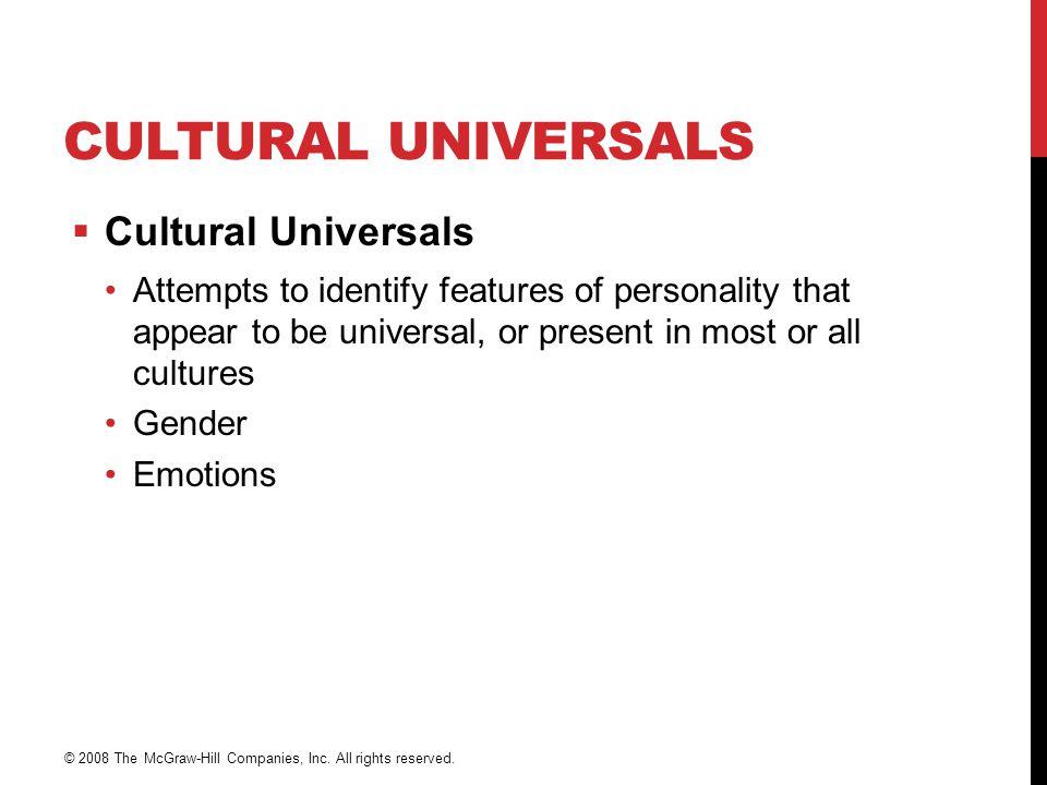 Cultural Universals Cultural Universals