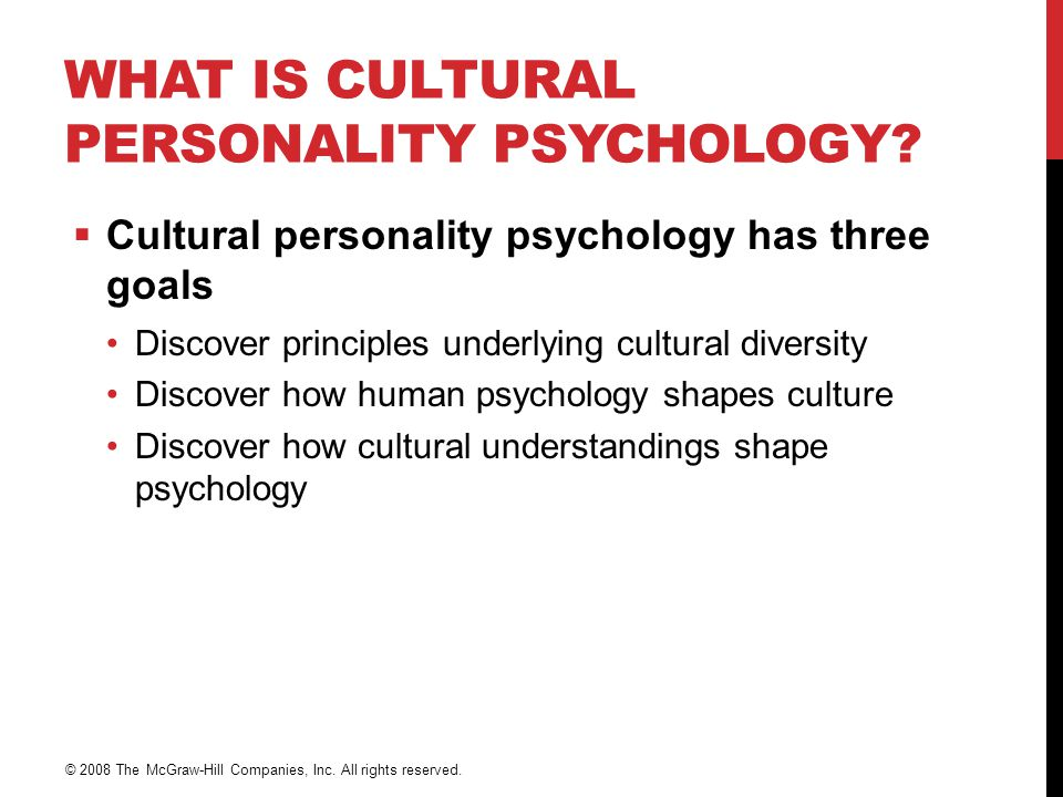 What is Cultural Personality Psychology