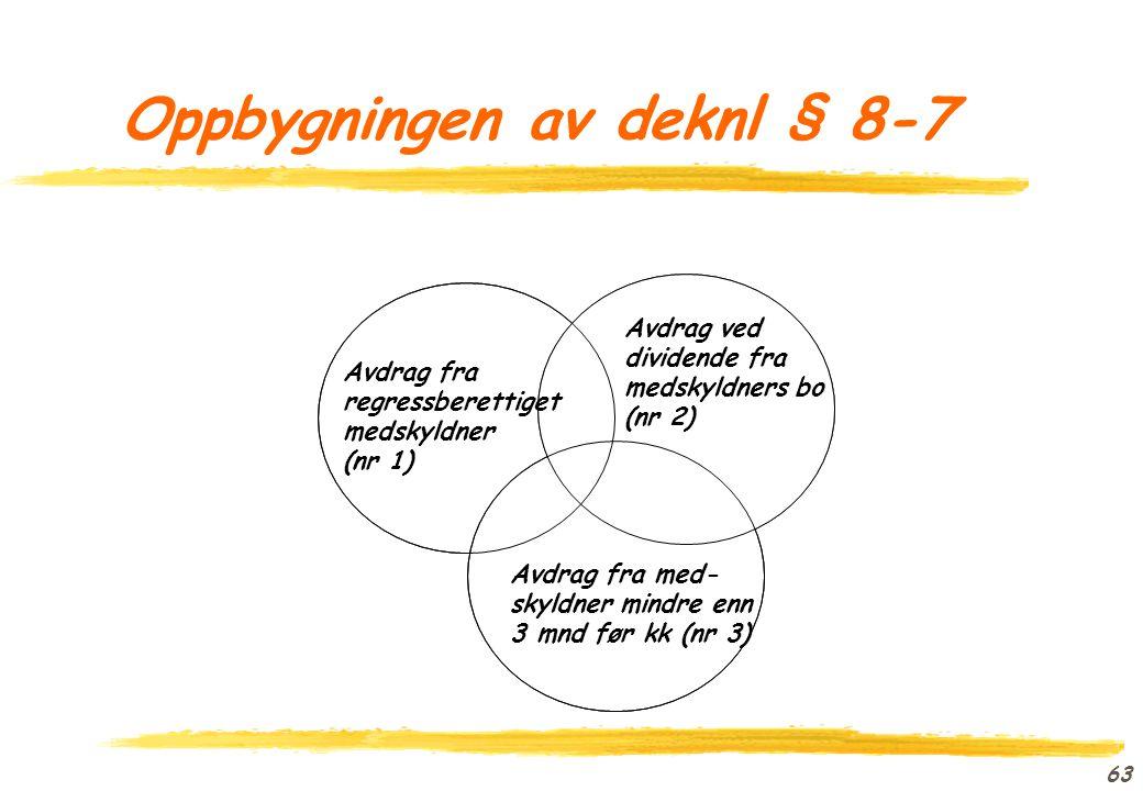 Oppbygningen av deknl § 8-7
