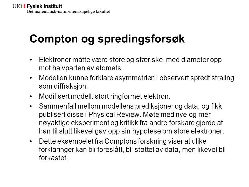 Compton og spredingsforsøk