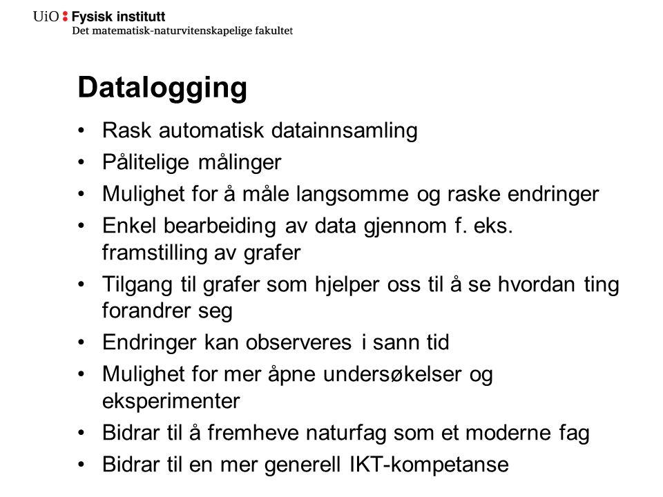 Datalogging Rask automatisk datainnsamling Pålitelige målinger