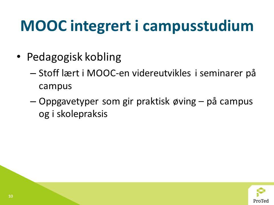 MOOC integrert i campusstudium