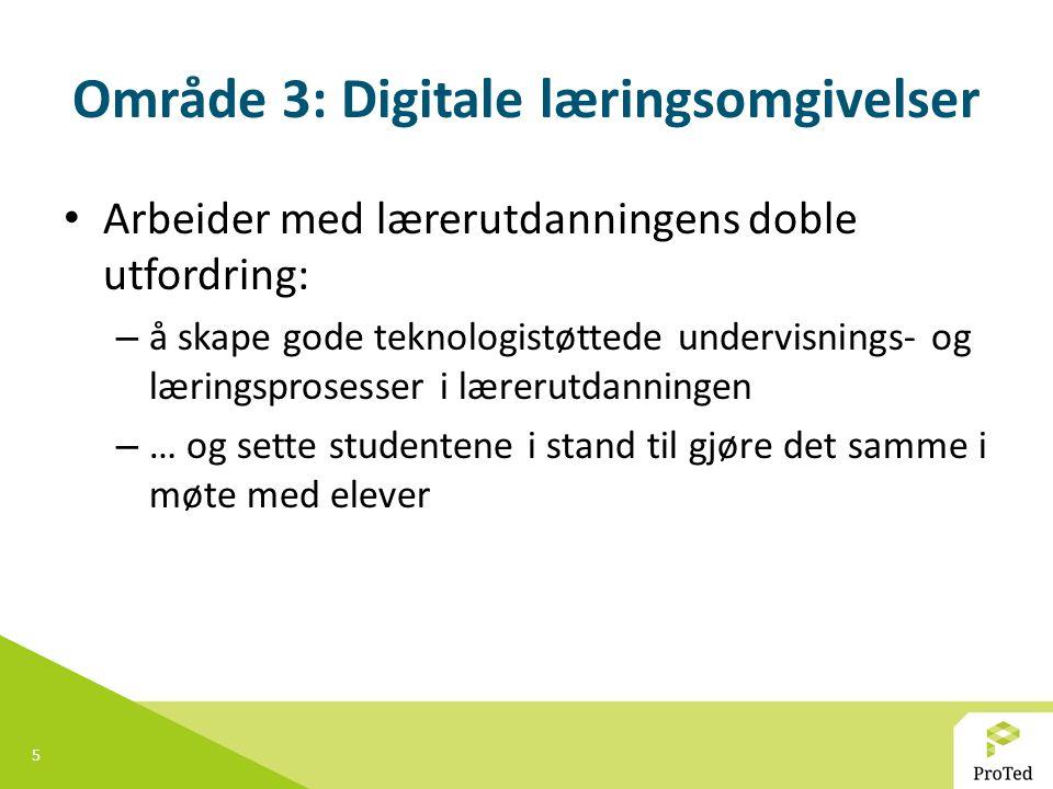 Område 3: Digitale læringsomgivelser
