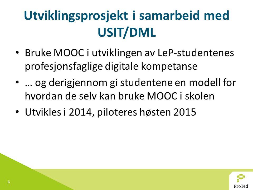 Utviklingsprosjekt i samarbeid med USIT/DML
