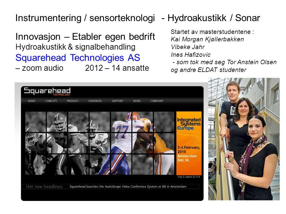 Instrumentering / sensorteknologi - Hydroakustikk / Sonar