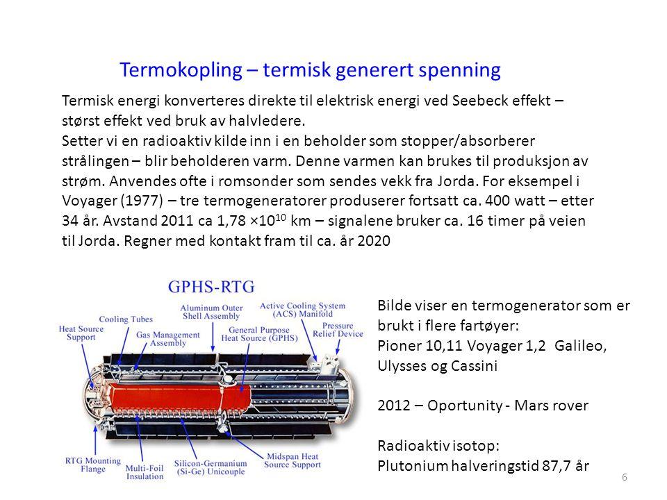 Termokopling – termisk generert spenning