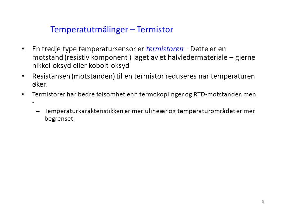 Temperatutmålinger – Termistor
