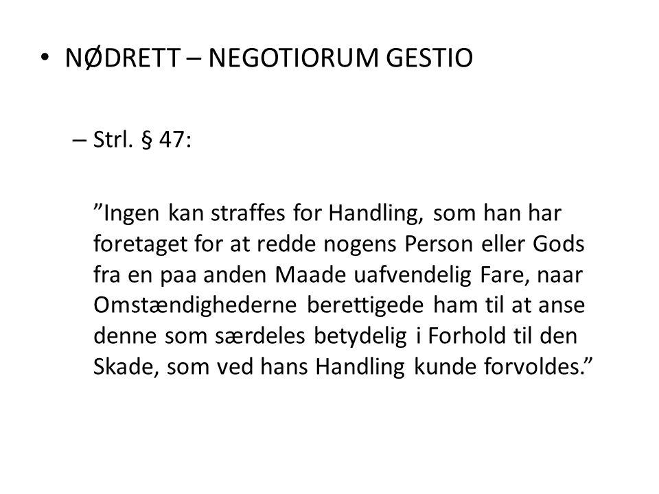 NØDRETT – NEGOTIORUM GESTIO