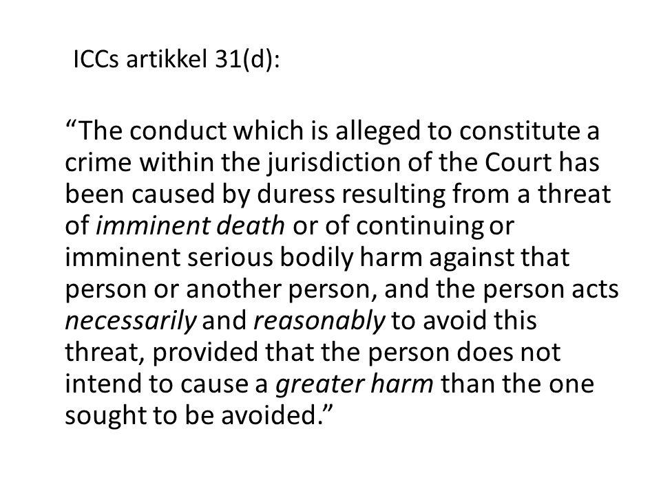 ICCs artikkel 31(d):