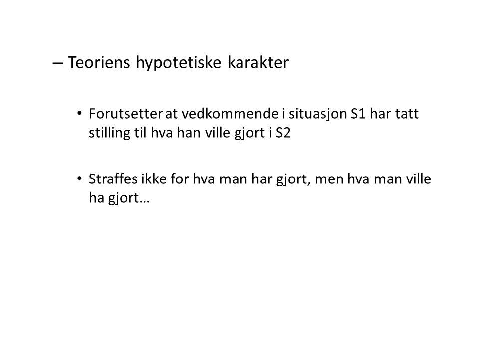 Teoriens hypotetiske karakter