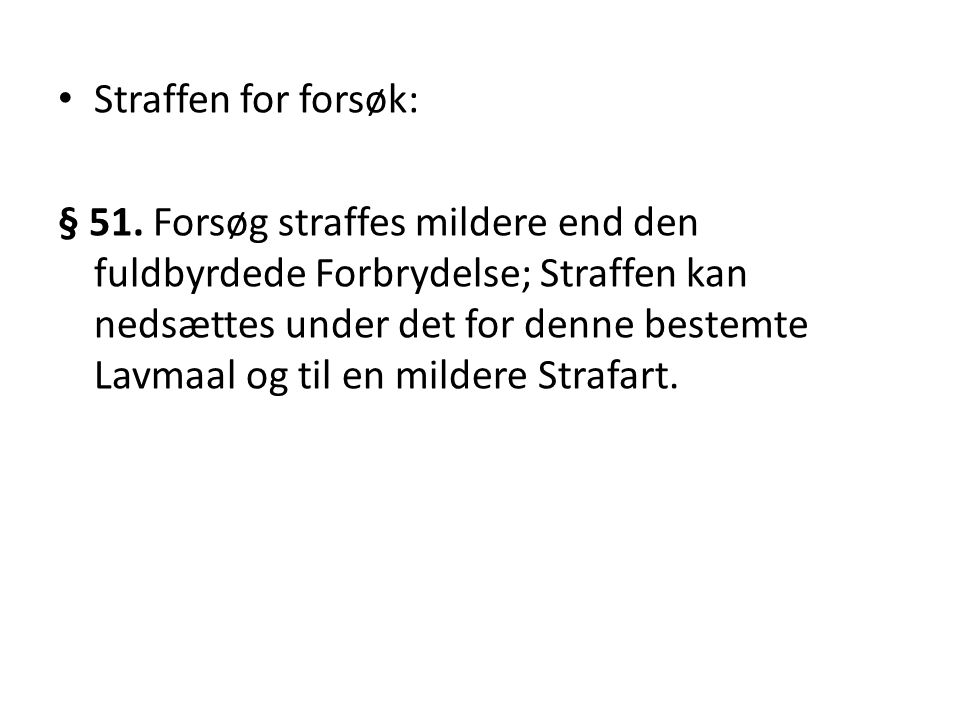 Straffen for forsøk: