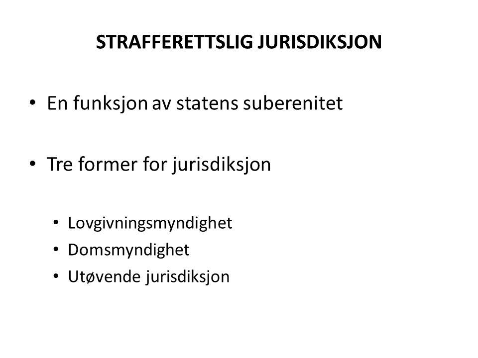 STRAFFERETTSLIG JURISDIKSJON