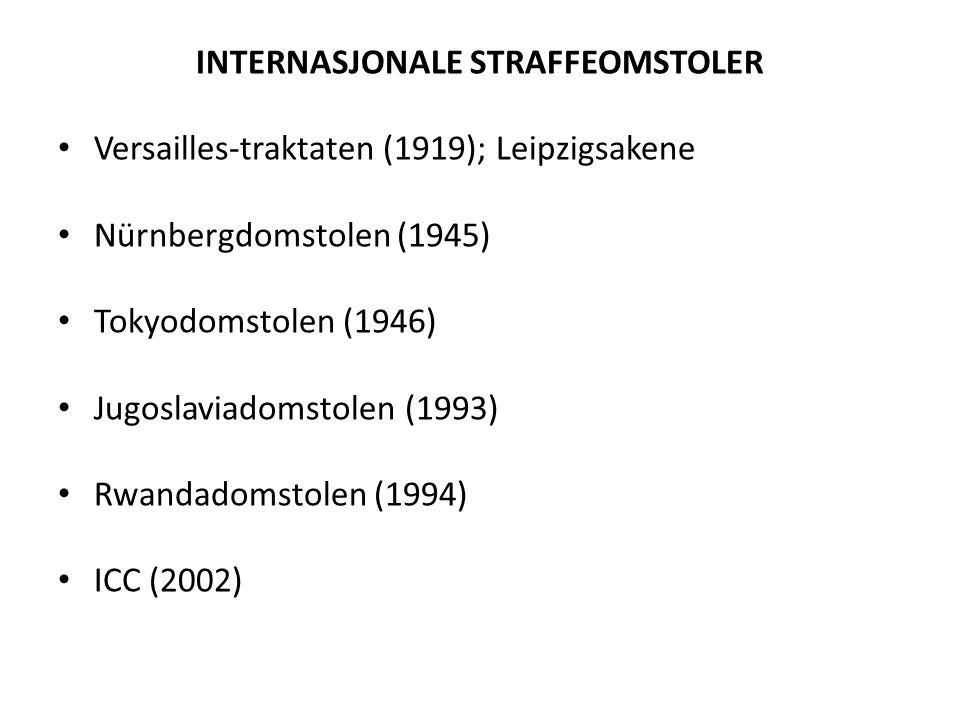 INTERNASJONALE STRAFFEOMSTOLER