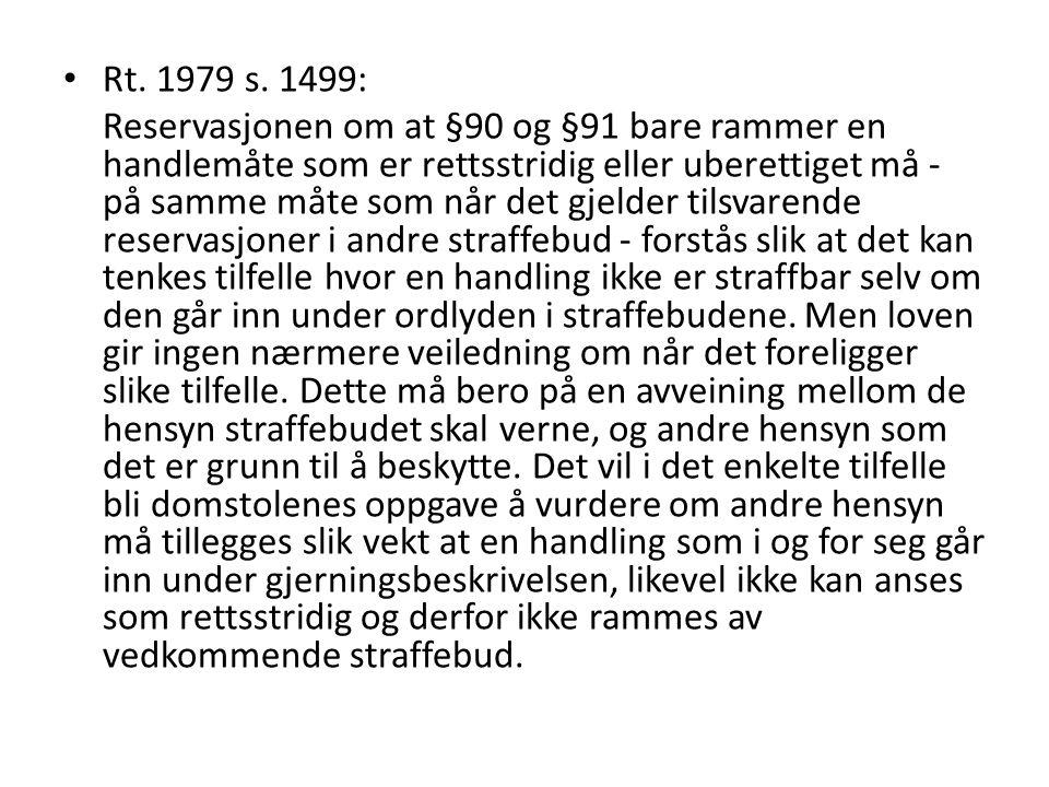 Rt. 1979 s. 1499: