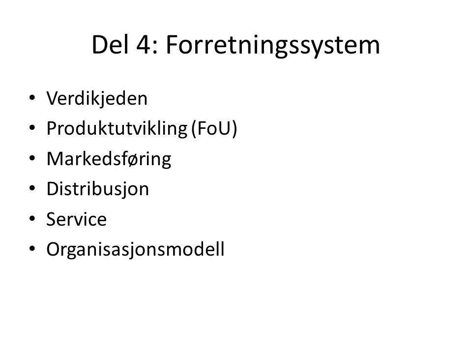 Del 4: Forretningssystem