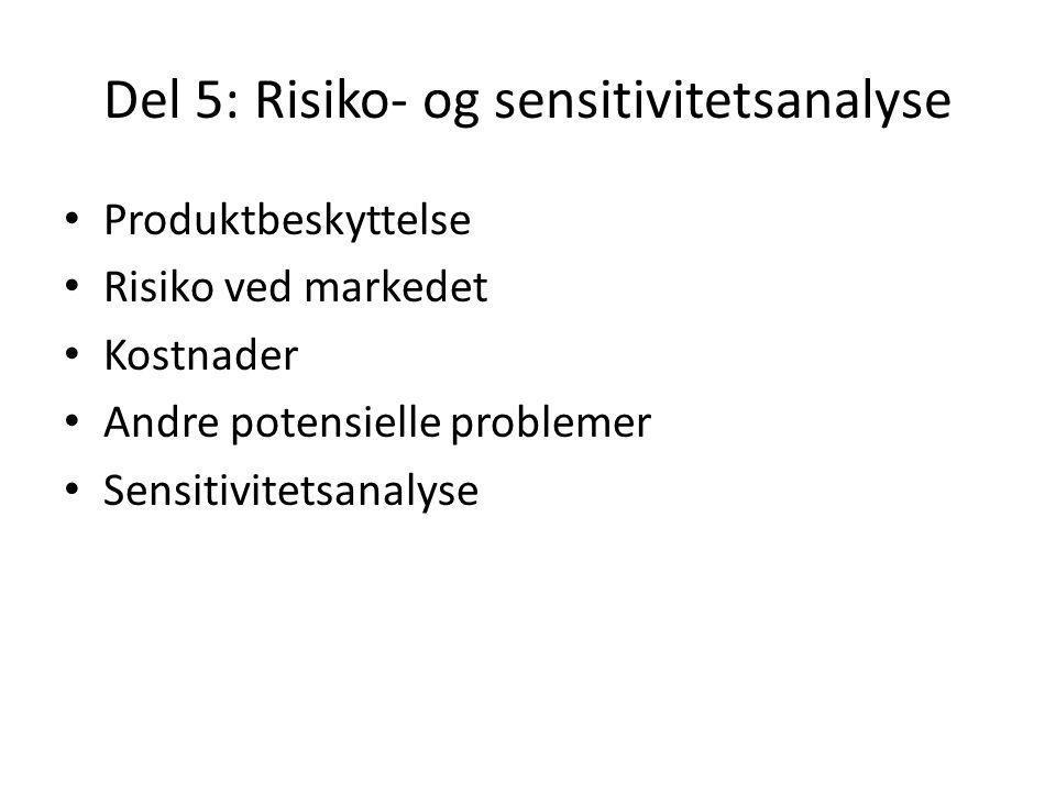 Del 5: Risiko- og sensitivitetsanalyse