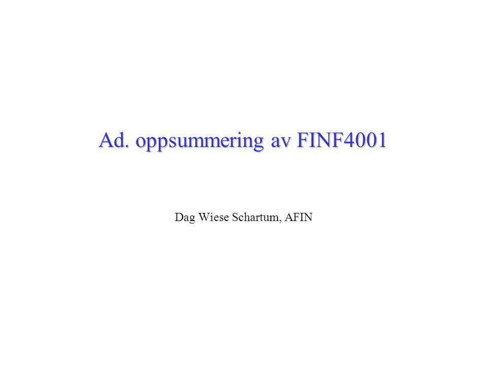 Ad. oppsummering av FINF4001