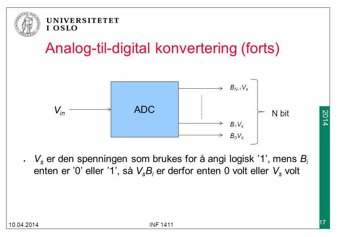 Analog-til-digital konvertering (forts)
