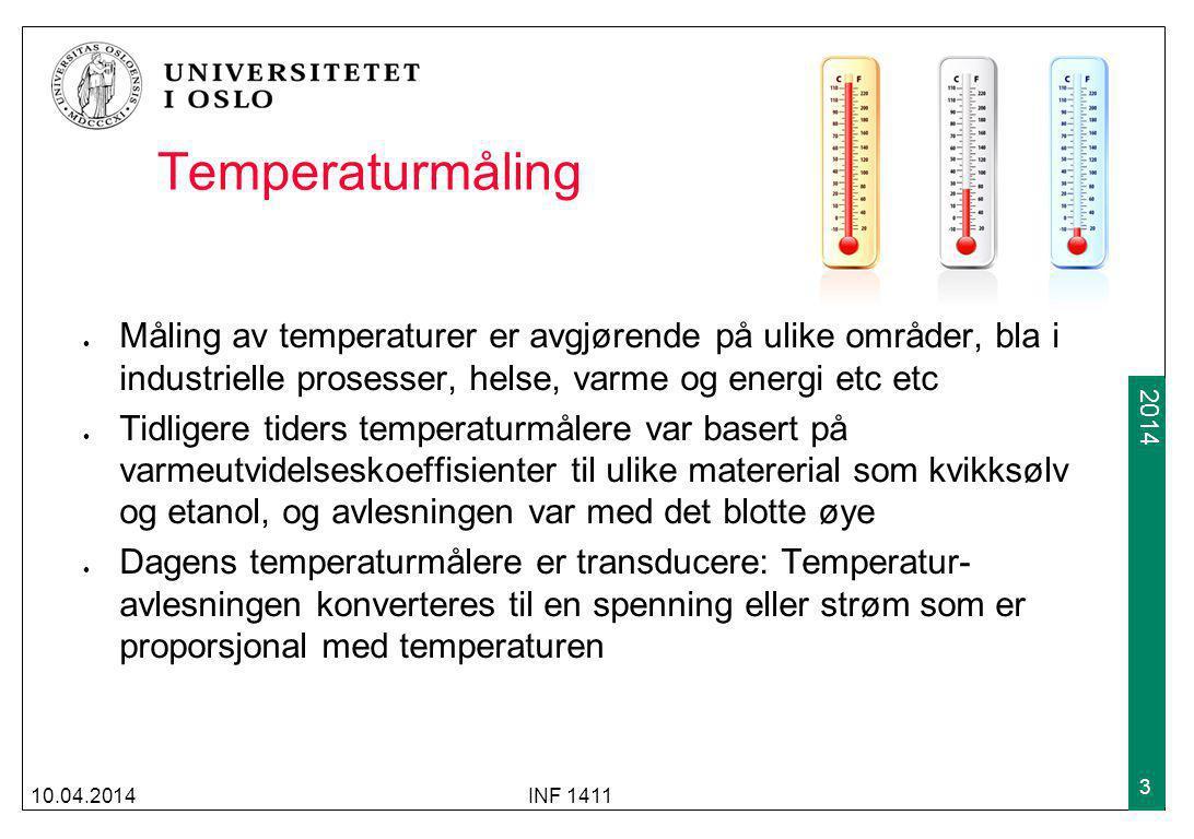 Temperaturmåling Måling av temperaturer er avgjørende på ulike områder, bla i industrielle prosesser, helse, varme og energi etc etc.