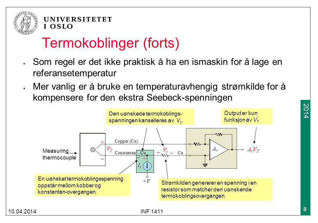 Termokoblinger (forts)