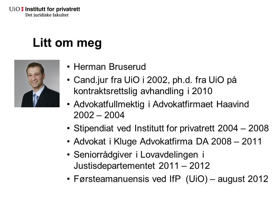 Litt om meg Herman Bruserud