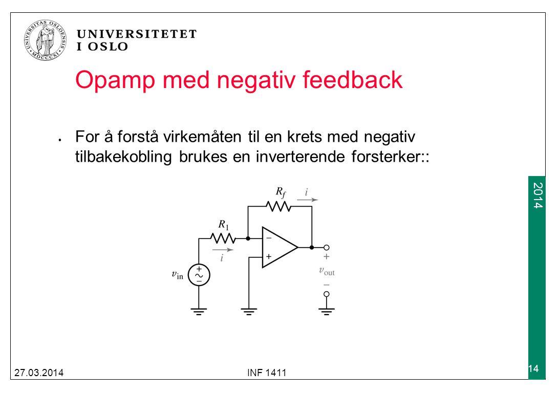 Opamp med negativ feedback
