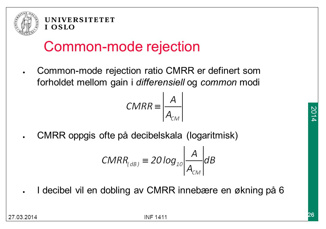 Common-mode rejection
